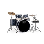 "4241 Mapex 20"" RB5044FTCBL Drum Set, Black"