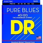 3352 DR PB5-40 Pure Blues Quantum Nickel Bass Strings, 40-120