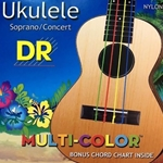 3454 DR UMCSC Multi Color Ukulele Strings