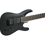 2910132568 Jackson 7 Strings Dinky Arch Top JS22-7 DKA HT, Amaranth Fingerboard, Satin Black