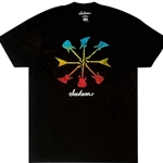 2999435606 Jackson Guitar Shapes T-Shirt, Black, Large