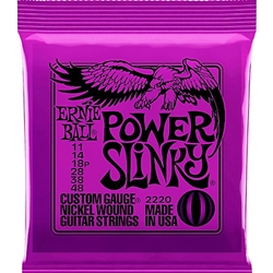 P02220 Ernie Ball 2220 Power Slinky Electric Guitar Strings, .011 - .048