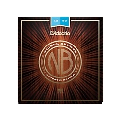 5416 D'Addario Nickel Bronze Acoustic Lite Guitar Strings, .011 - .052