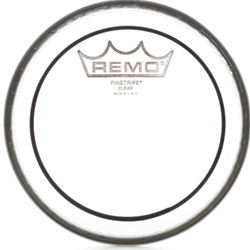 "Remo PS-0308-00 8"" Clear Batter, Pinstripe Drum Head"