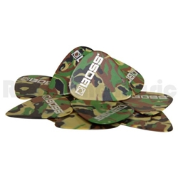 Roland  BOSS, BPK-12-CM Medium Camo Celluloid Picks, 12 Pack