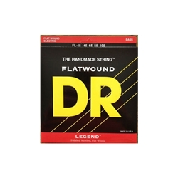 DR FL-45 Legend Flat Wound 4 String Bass Strings, .045-.105