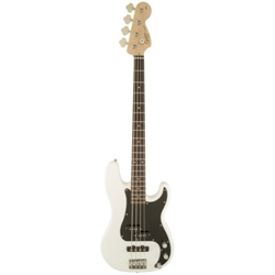 Fender 0370450505 Squier Contemporary Active Jazz Bass HH, Maple Fingerboard, Flat White